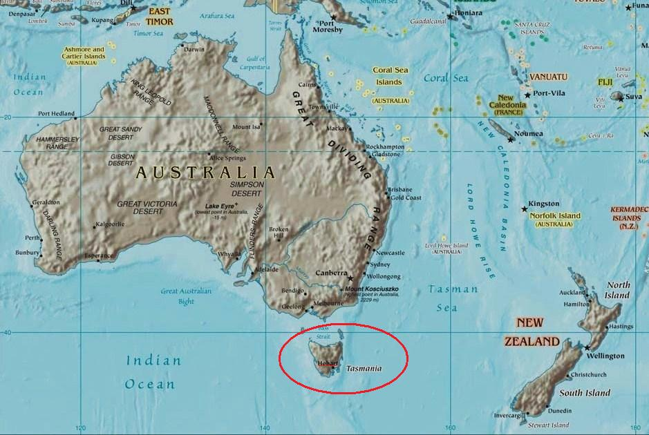 Ultima Thule Hobart Tasmania a colonial Thule in south Pacific