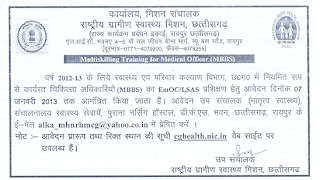 NRHM Chhattisgarh Recruitment