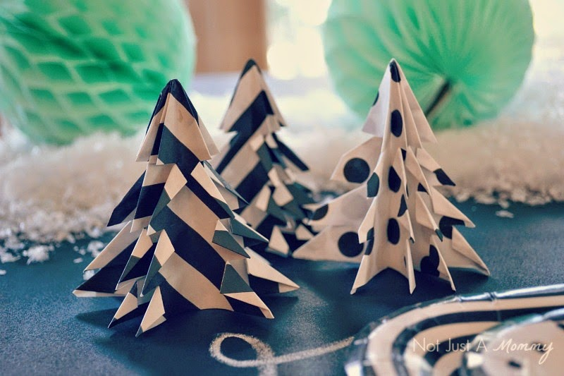 Christmas Crafting With Bitty Bags origami trees