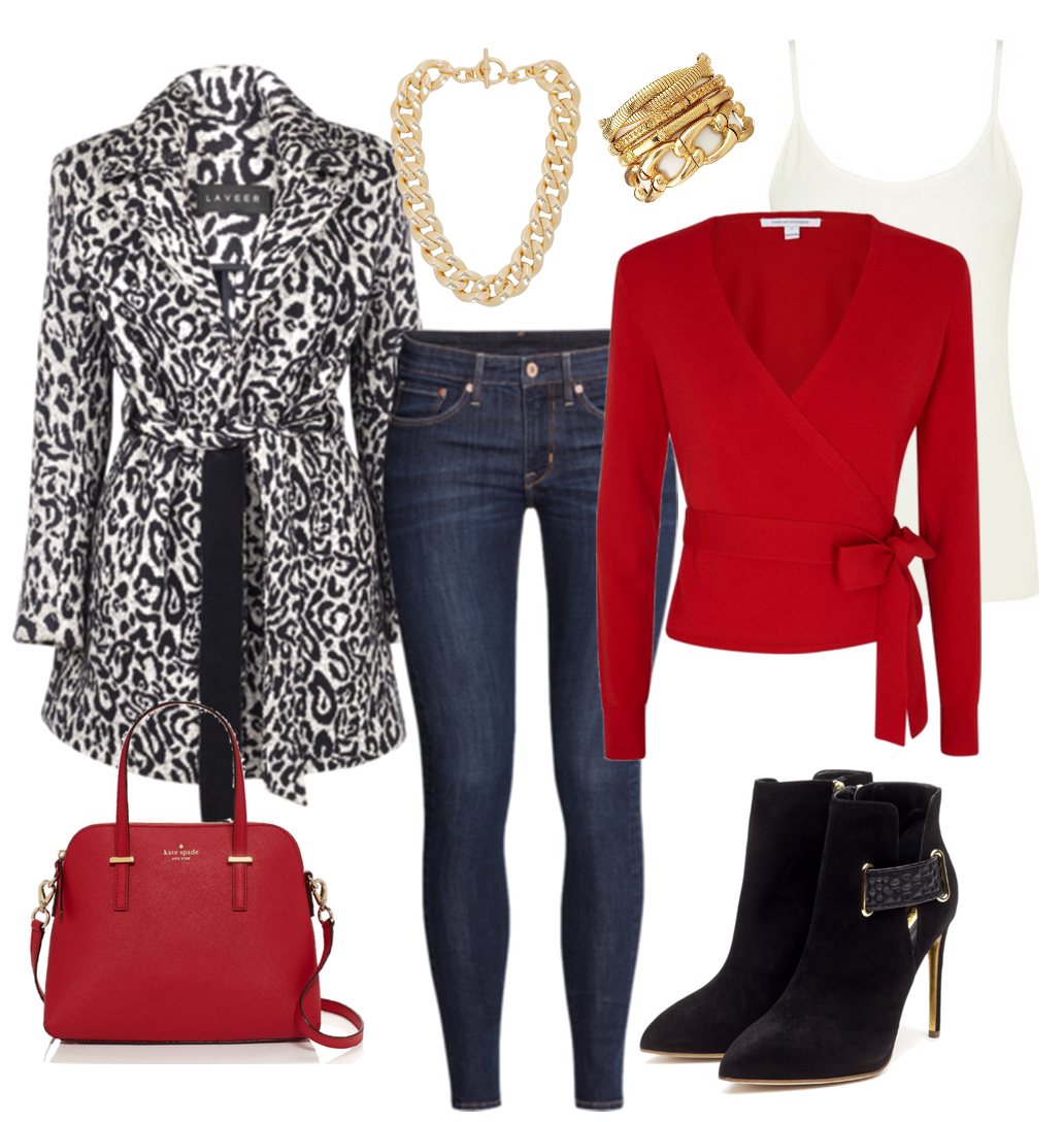 Red and Leopard Outfit Combination. Perfection. From She Goes by Yari fashion and style blog.