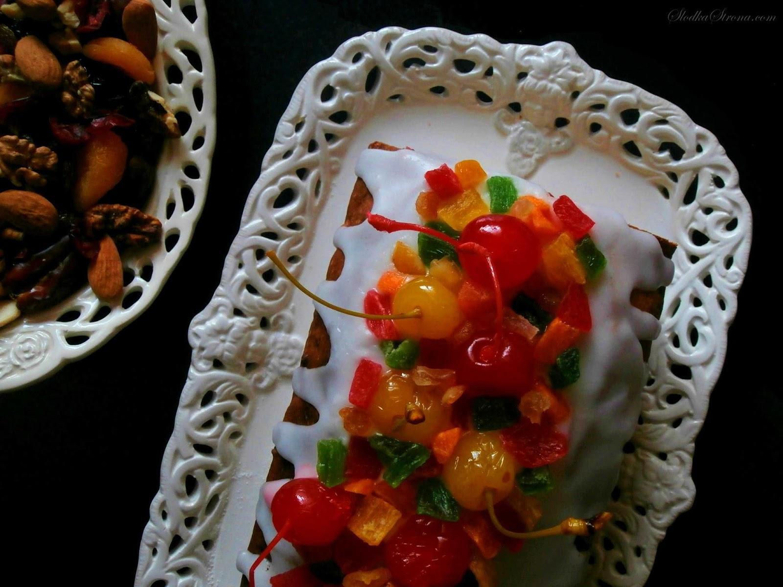 Klasyczny Keks z Bakaliami - Przepis - Słodka Strona