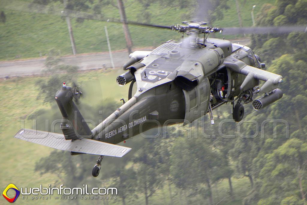 Para proteger toda le red energética y vial de Antioquia y el Chocó, La fuerza Aérea Colombiana ha destacado toda la flota de aeronaves tipo UH-60 Black Hawk, entre las que se destacan los helicópteros Arpía II, Arpía III y Arpía IV.