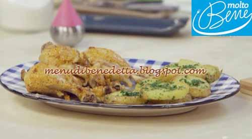 Fusi di pollo marinati ricetta Parodi per Molto Bene su Real Time