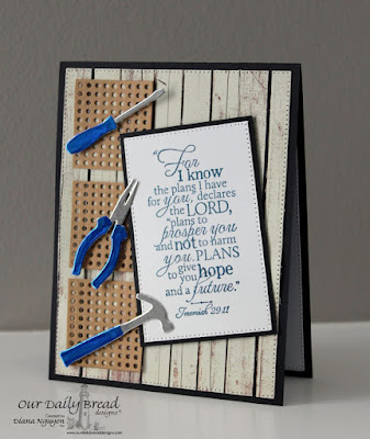 Diana Nguyen, Our Daily Bread Designs, Good man, Workshop Tools, Pegboard, masculine, scripture, Jeremiah 29:11
