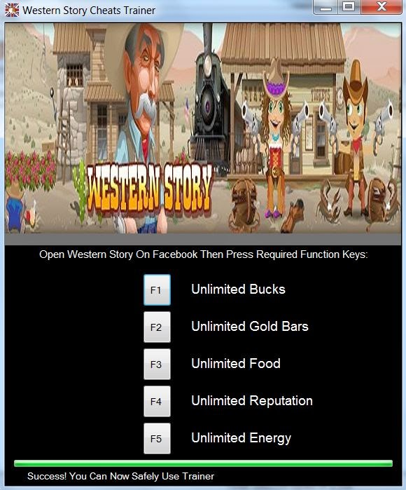Use The Western Story Cheats Trainer For Unlimited Bucks, Gold bars, Food, Reputation, and Energy
