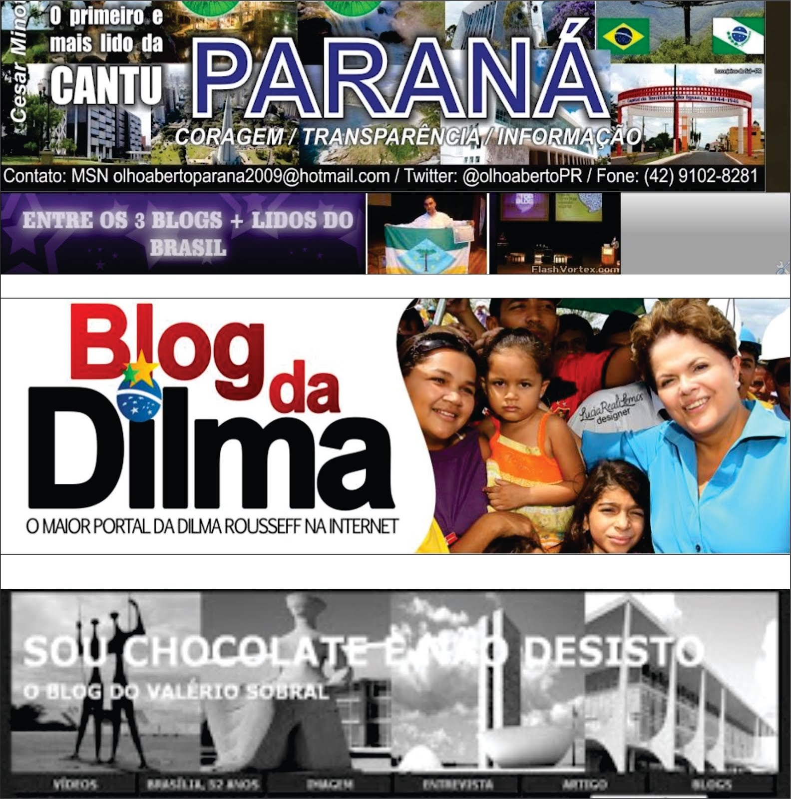 Blog olho aberto vai disputar a final do Top Blog Brasil com o Blog da Dilma