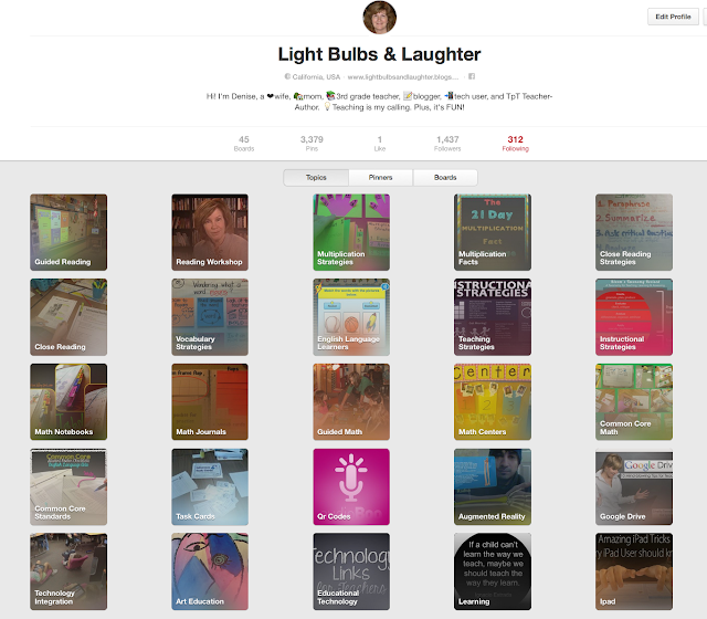 How To Follow Educational Topics on Pinterest - Light Bulbs and Laughter Blog