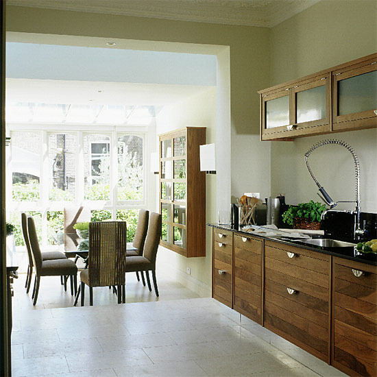 Modern Walnut Kitchen Cabinets
