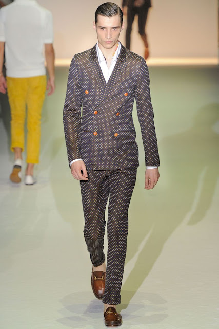 Male model Adrien Sahores  S/S 2013 Gucci