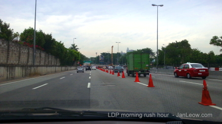 LDP-1Utama road cones and MRT construction
