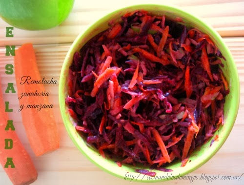 Cocinando los domingos ensalada de remoclacha zanahoria - Ensalada de apio y zanahoria ...