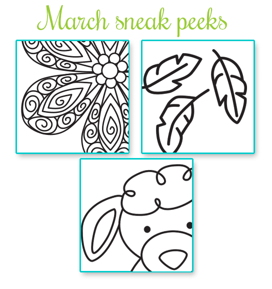 March Sneak Peeks | Newton's Nook Designs
