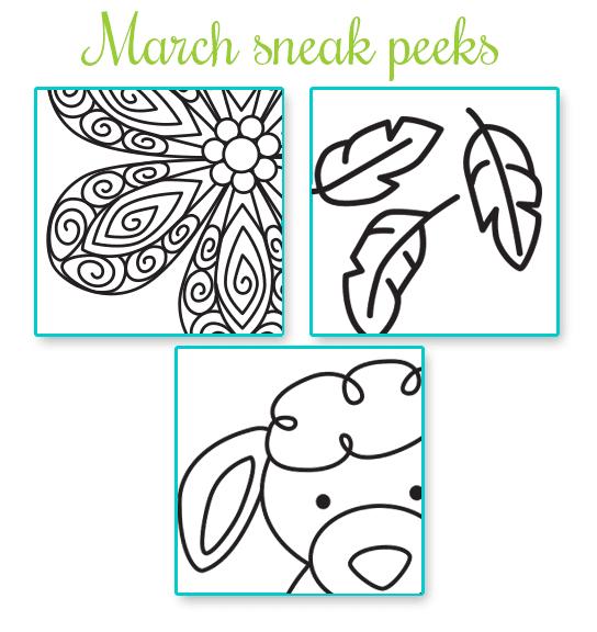 March Sneak Peeks   Newton's Nook Designs