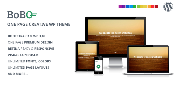 One Page Multifunctional WordPress Theme