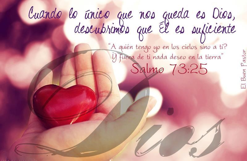 Yo soy el buen pastor salmo 73 25 for Fuera de ti nada deseo en la tierra