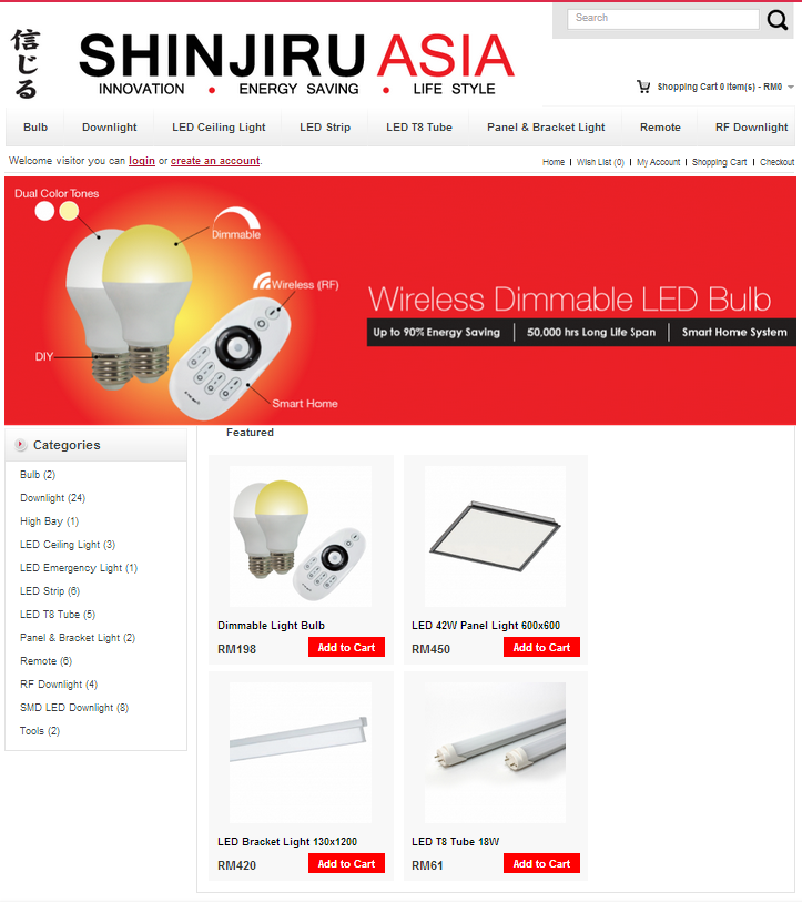 e-commerce, shinjiru asia, website