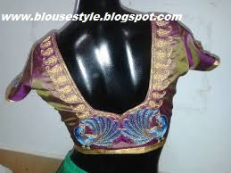 PEACOCK DESIGNS EMBROIDERY BLOUSE