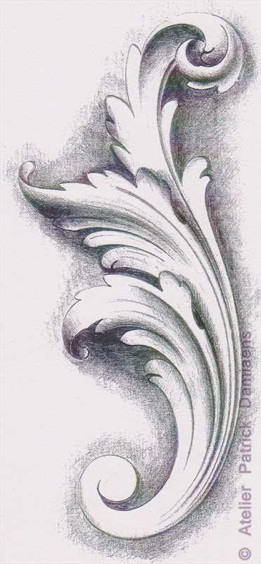Drawing Acanthus Leaf Scroll