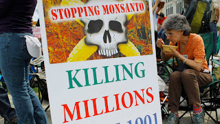 US Government lobbying for Monsanto across the Globe - Stopping Monsanto killing millions - Jane Michalek (Reuters) protests in front of the U.S. Food and Drug Administration Center