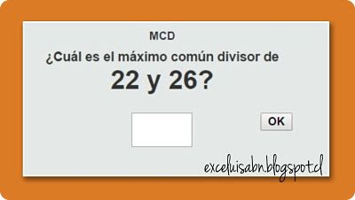 Calcular el MCD.