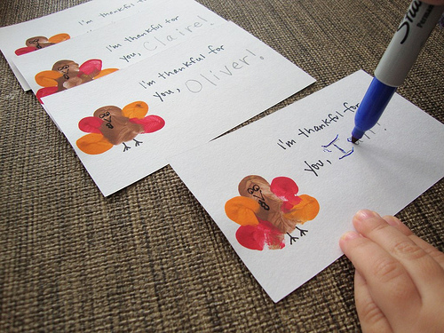 Thumbprint Crafts Thanksgiving Turkey