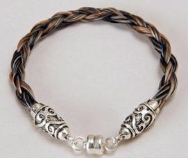 Braided Horse hair bracelet - Horse hair jewellery