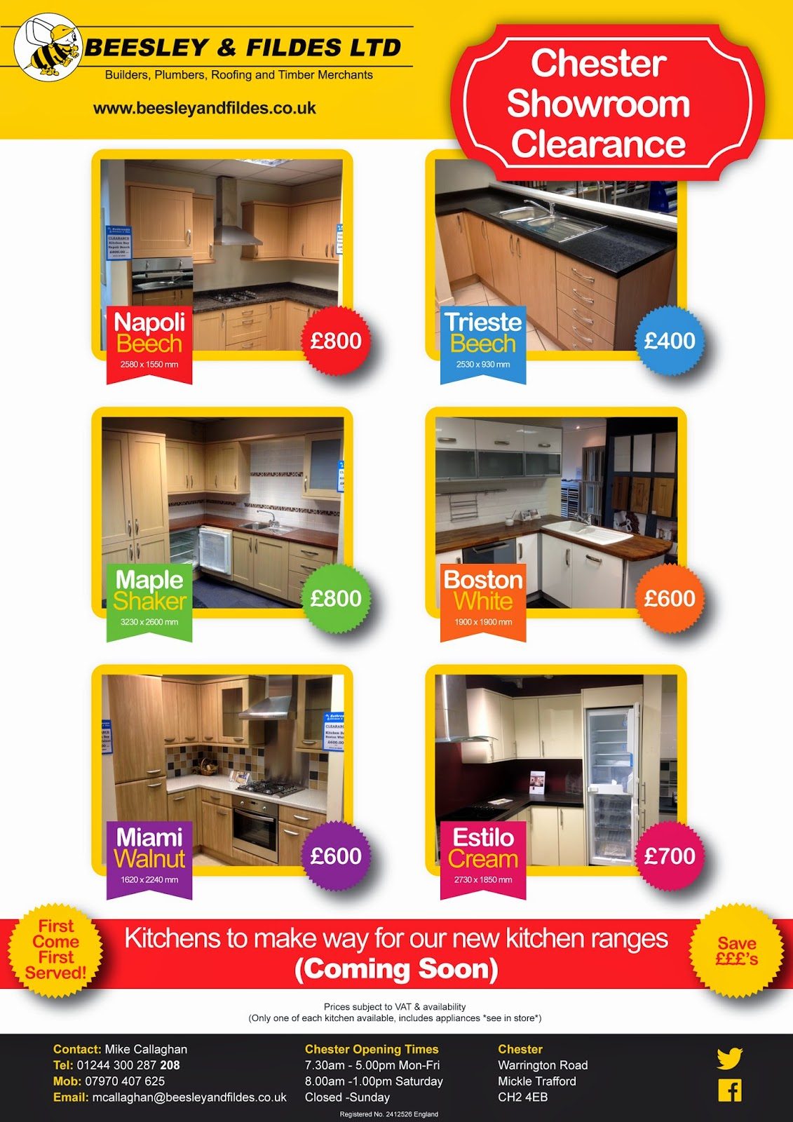 Chester Kitchen Clearance