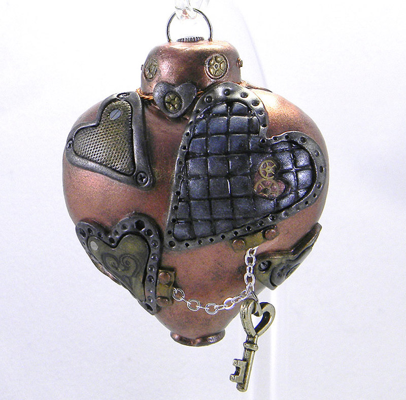 Steampunk Human Heart Steampunk Heart Ornament b2