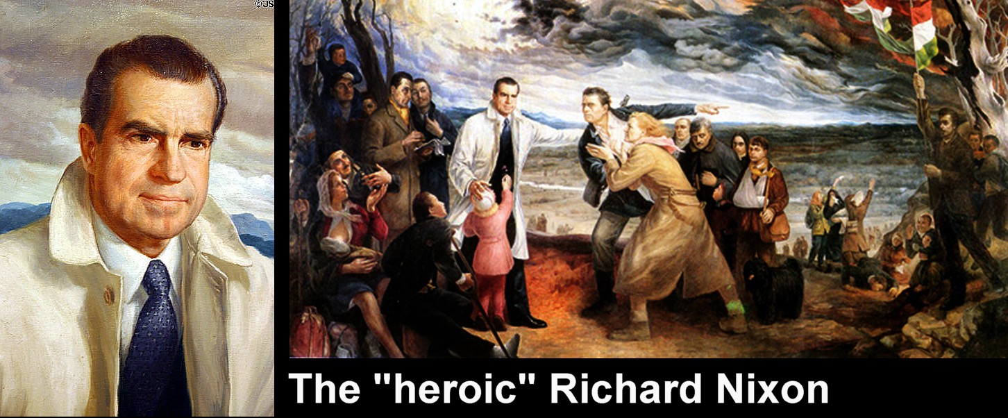 art now and then richard nixon portraits in the tradition of european history painting the hungarian american artist ferenc daday depicts then vice president nixon as the heroic savior of his