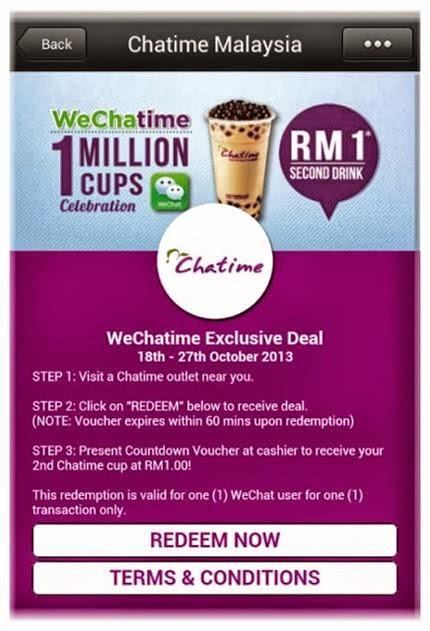 Promosi RM1 WeChatime