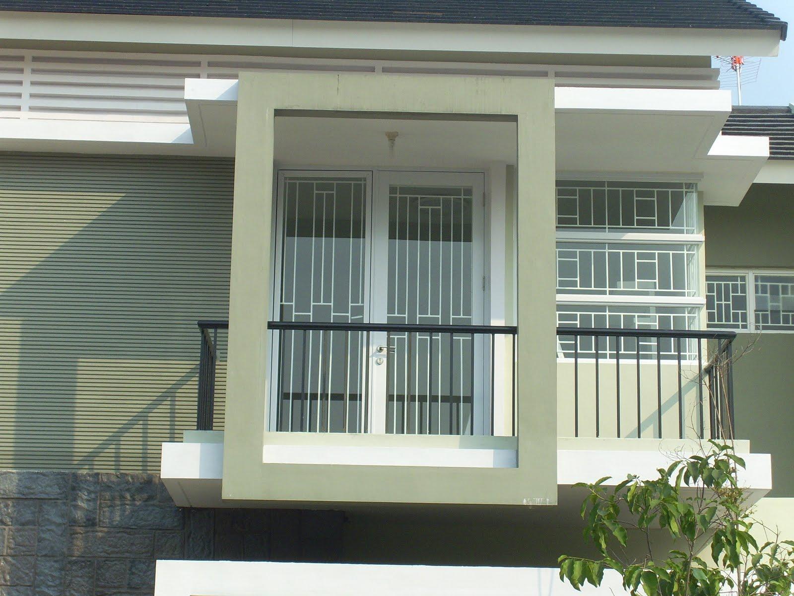 stainless steel besi teralis minimalis di perumahan