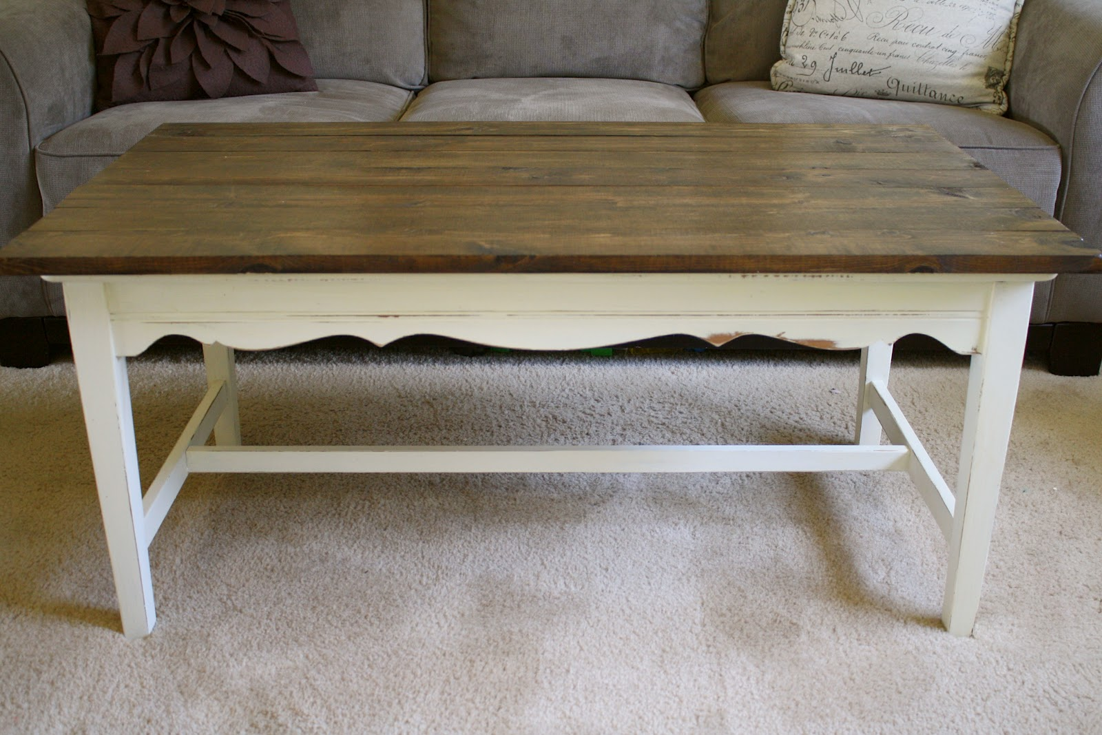 Diy farmhouse coffee table for Other uses for a coffee table