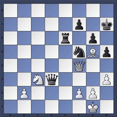 Les Noirs jouent et gagnent en 2 coups - Niveau Facile