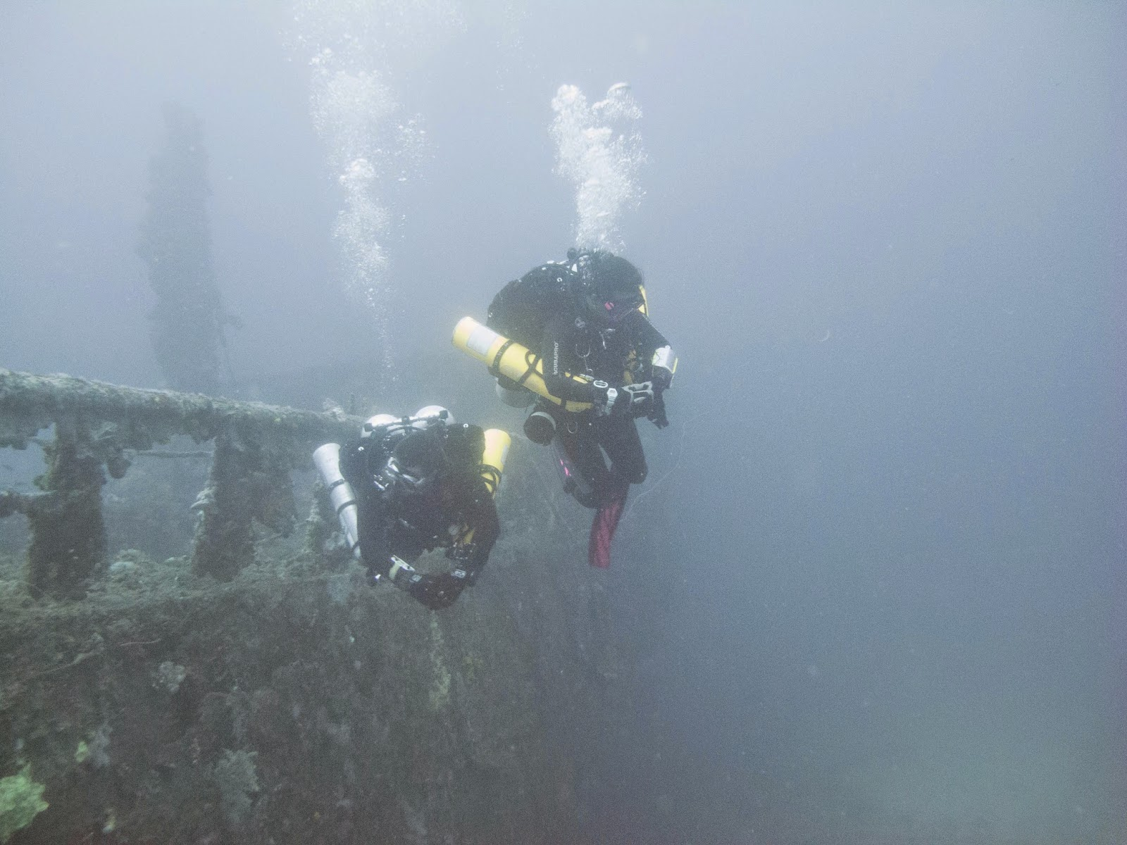 The world war 2 wreck presumed to be the Oakita maru, just north of Malapascua and frequently dived by Exotic