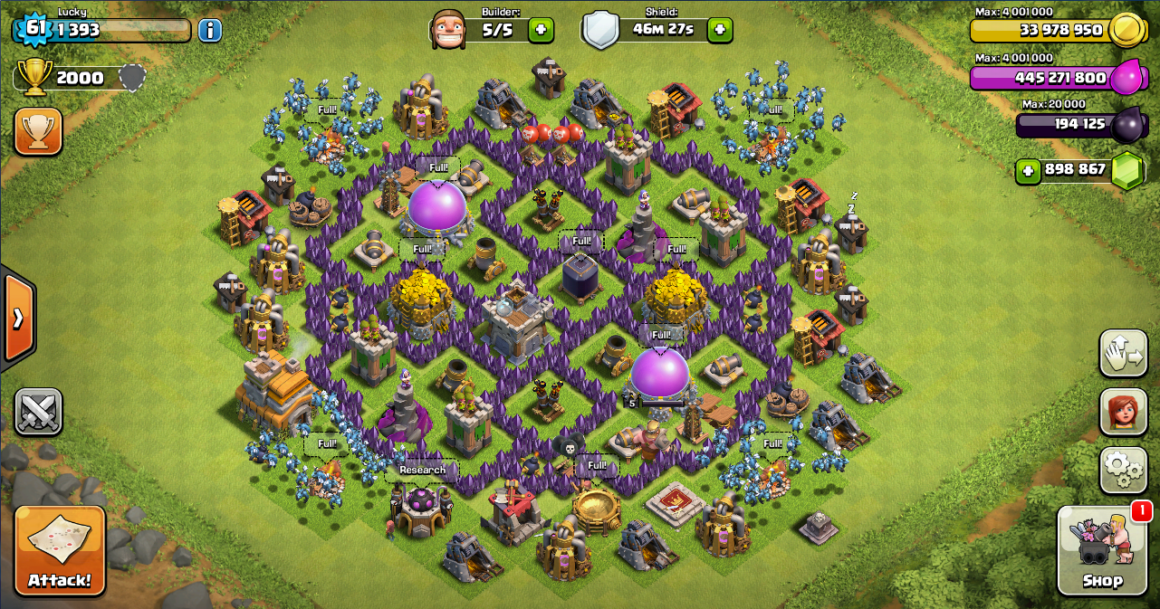 Farming base clash of clans th 7 design base clash of clans terbaik