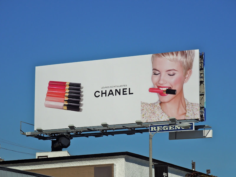 Chanel cosmetics billboard