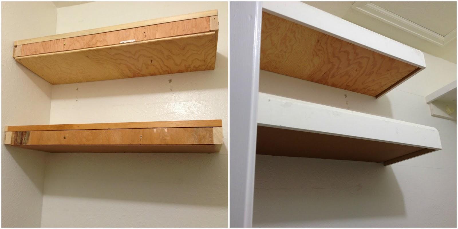 Shoe Shelf, bench and floating shelves, Master Closet Makeover ...