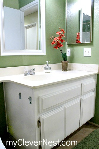 clever nest diy repainting bathroom cabinets and