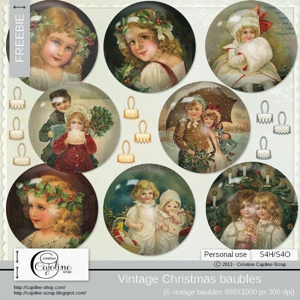 Freebie - Vintage baubles (1)