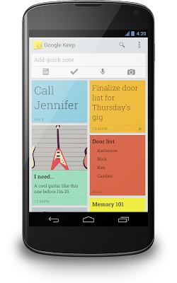 VIDEO: Google Unveils Google Keep - New Note Taking Service
