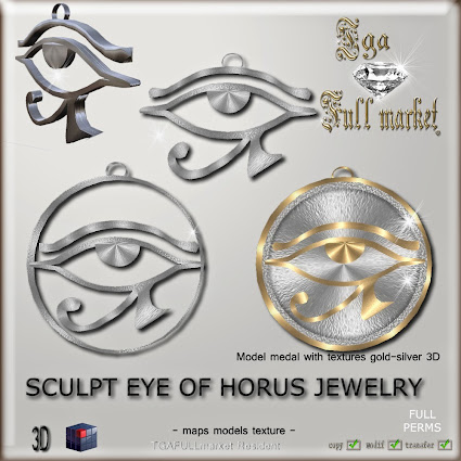 SCULPT EYE OF HORUS JEWELRY