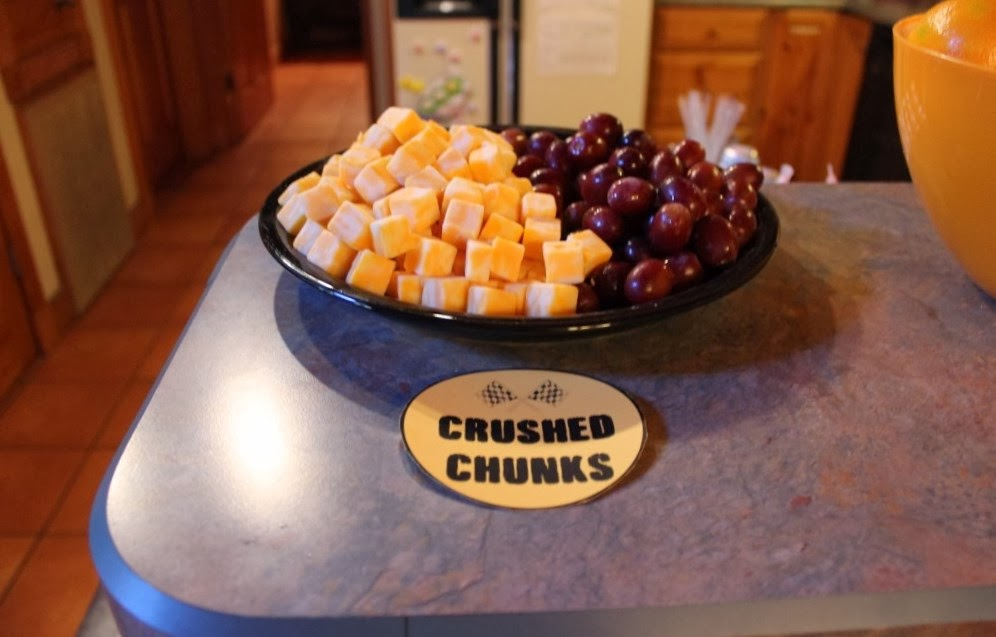 Crushed Chunks Cheese Cubes
