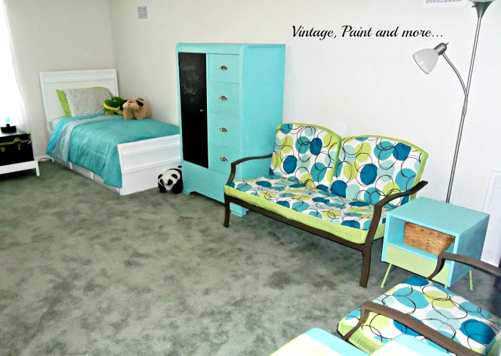 Vintage, Paint and more... retro teen room, retro guest room, multifunctional room, thrifted furniture