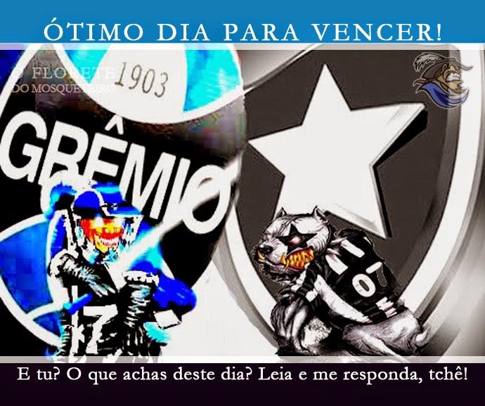 gremiobota Libertadores, Grêmio OK, Verdão e Galo KO