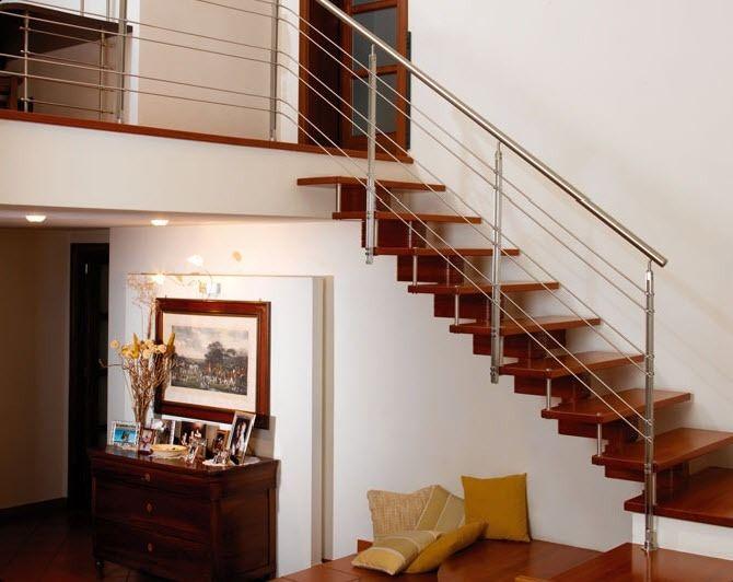 Muebles y carpinteria capita escalera de madera - Escaleras con peldanos de madera ...