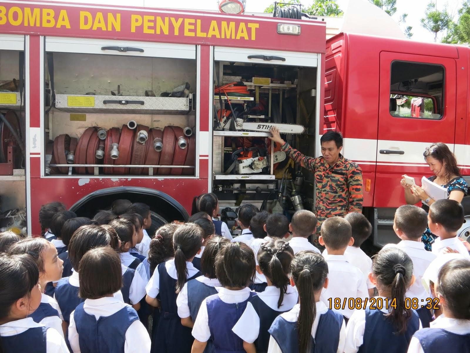 谢谢消防局当局愿意来到本校教导学生防火练习。