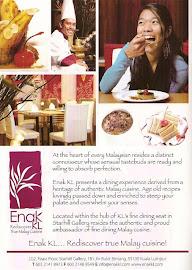 Enak KL Restaurant Malaysia