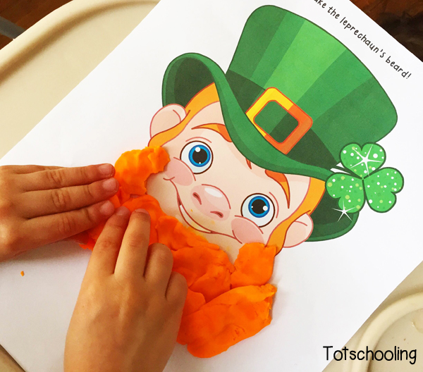 Free Worksheets free printable st patrick day worksheets : St. Patricku0026#39;s Day Playdough Mats : Totschooling - Toddler ...