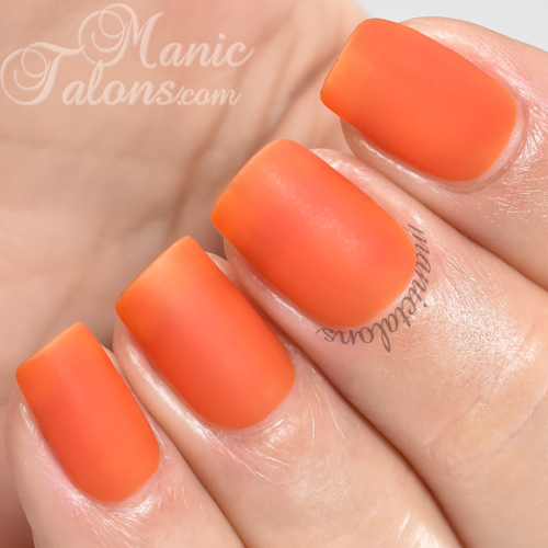 BMC Tangier-ine Matte Gel Polish Swatch