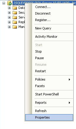 how to connect to sql server using visual studio